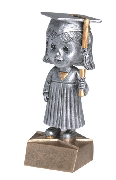 "Graduate (Female) Bobblehead 5.5""-0"