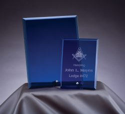 "Blue Glass Plaque 4""x 6""-0"