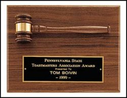 Walnut Gavel Plaque-0