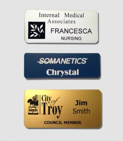 Engraved Plastic Name Badge-0