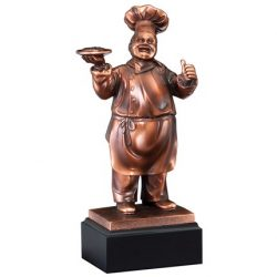 "Chef Resin Sculpture 11""-0"