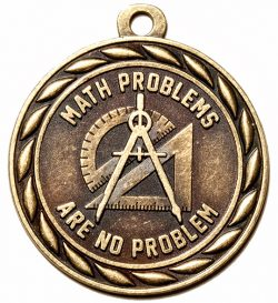 Math Problems are No Problem Medal-0