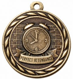 Perfect Attendance Medal-0