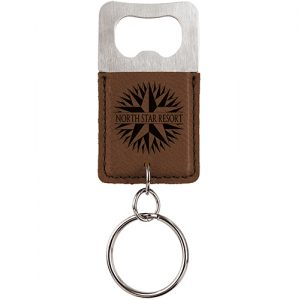 Keychain – Bottle Opener, Dark Brown