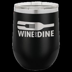 Stemless Wine Tumbler – Black, 12 oz