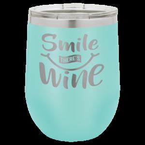 Stemless Wine Tumbler – Teal, 12 oz