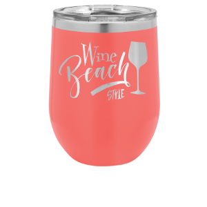 Stemless Wine Tumbler – Coral, 12 oz